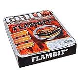 Flambit Einweggrill To go, mit Anzüghilfe, Holzkohle, Aluschale, 2er Pack (2 x Grill)