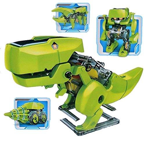 Tonsee DIY montieren 4 In 1 pädagogische Solar-Roboter Bohren Maschine Dinosaurier Insekt Kit