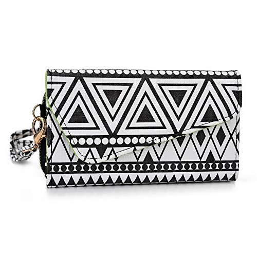 Kroo Pochette/étui style tribal urbain pour épices Mi-438 Stellar Glide/mi-498 Dream Uno Multicolore - White with Mint Blue Multicolore - Noir/blanc