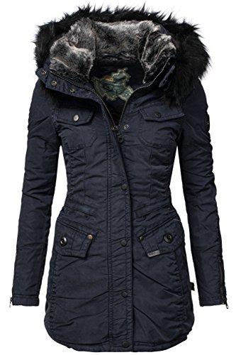 Khujo chi cappotto invernale da donna blu navy XL