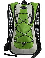5L Bolsa Mochila de Agua Hidratación para Bicicleta Mtb Excursión Verde