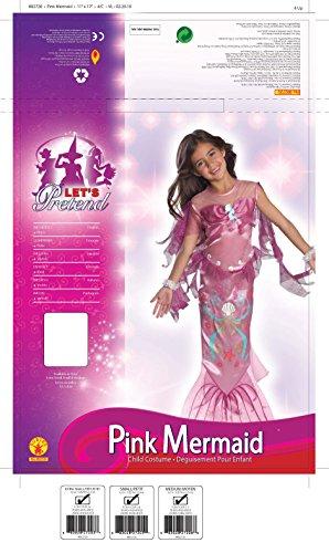 Imagen de sirena rosada  niños disfraz  medium  132cm alternativa