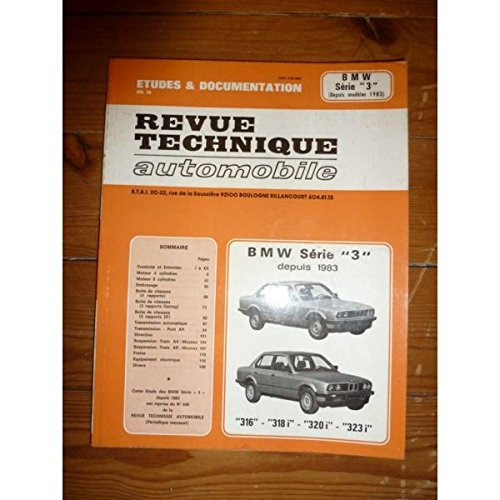 RRTA0448.1 - REVUE TECHNIQUE AUTOMOBILE BMW Série 3 depuis 1983 315 - 318i - 320i - 323i