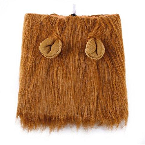 CDKJ Pet Kostüm Hund Löwe Perücken Mähne Haar Schal Kleidung für Party Halloween Festival (Löwe Kostüm Haar)