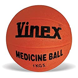 Vinex VMB-001R Medicine Ball Rubber, 1 kg (Color May Vary)