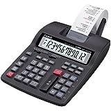 Calculadora Impresora CASIO HR-150TM - Pantalla Extra Grande, 12 dígitos, Cálculo impuestos, Cambio divisas, Impresión 2 colores