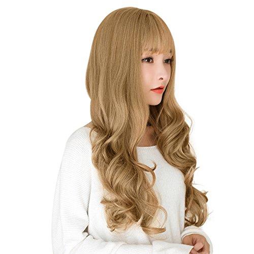 Lange lockige Luftknall perücken Kopfbedeckung, Bluestercool Sexy Damen mode knallt gewelltes Haar volle Cosplay Partei Perücke
