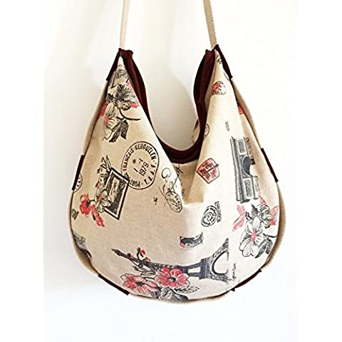 Womens handbag in suede and washable cotton bag, limited edition BBagdesign.