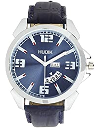 HUDIK Analogue Blue Dial Day & Date Men Watches/Watches For Men/Wrist Watches For Men/Boy's Watch/Watches For...
