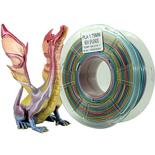 Stronghero3d desktop fdm 3d drucker filament pla regenbogen 1.75mm 1kg (2.2 lbs) dimension genauigkeit von + / -0.05mm - Regenbogen-farbigen Sternen