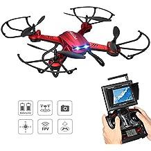 Potensic F181DH Actualización Drone con Estabilización de Vuelo, CÁMARA 2MP HD, WIFI FPV 5.8GHz 4CH 6-Axis Gyro RC Quadcopter, Modo sin Cabeza, Función Giros de 360 Grados Automáticos Steples Speed