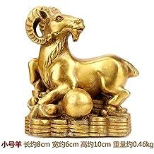 THEALEEWIN Decoración del Zodiaco De Latón Decoración De Feng Shui Artesanías ...