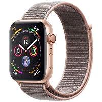 AppleWatch Series4 - Reloj inteligente (GPS+cellular) con caja de 44mm de aluminio en oro y correa Loop deportiva rosa arena