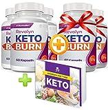 Revolyn Keto Burn - Diätpille für effektiven Gewichtsverlust | 5 Flaschen zum Preis von 3 (5 Flaschen)