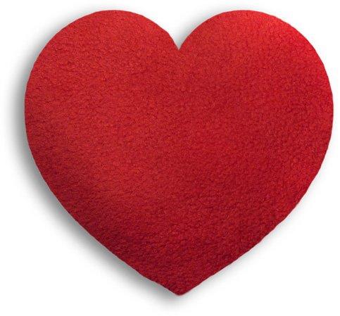 Leschi coussin chauffant/36851/chaleur Coeur/Petit (Coussin chauffant pour bébés et enfants) couleur: feu