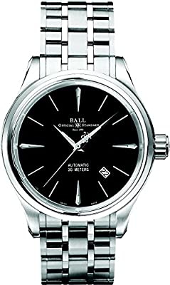 Ball Trainmaster Legend Black Dial Automatic Mens Stainless Steel Watch NM3080D-SJ-BK