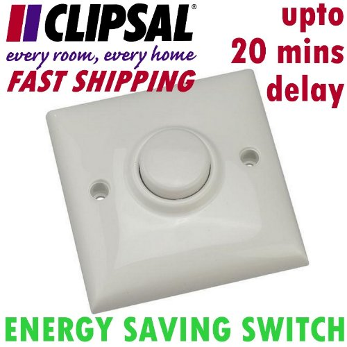 CLIPSAL-E319-PNEUMATIC-TIMER-DELAY-SWITCH-Electric-Light-10amp-Energy-Saving-Saver-Automatic-Lighting-Control-Hallway-BB-Hotel-Cupboards-FREE-UK-SHIPPING