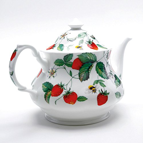 Roy Kirkham Alpine Strawberry Large round Tea pot by Roy Kirkham Roy Kirkham Alpine Strawberry