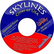 Vektoren CD / DVD 4 - ca. 280 Skylines Städte USA in 4 Design ca. 1100 Vektoren für Wandtattoos, Aufkleber, Textildruck