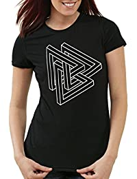 style3 Escher Triangle T-Shirt Femme sheldon