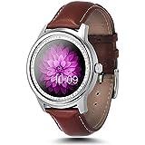Generic Bluetooth 4.0Super delgado vida impermeable reloj inteligente con ritmo cardíaco monitor/podómetro/grabación/anti-lost/paso de control de voz/Sleep vigilancia/temporizador/sedentariness recordatorio–Negro, color plata