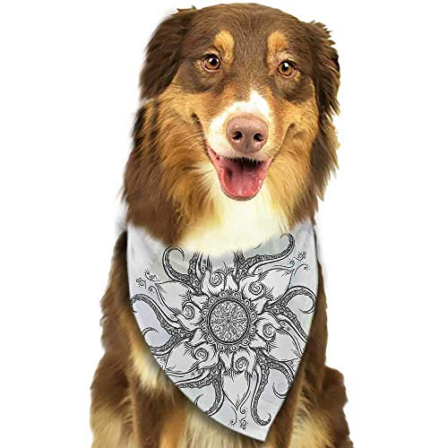 hulili Pet Dog Scarf Octopus Octopus Pattern Illustration Underwater World Wild Nature Themed Artwork Print Scarf for Small and Medium Dogs and Cats