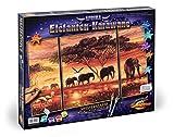 noris Schipper - 609260455 - Elefanti Vernice Numero Malen Nach Zahlen, Elefanten Karawane - 50 x 80 cm
