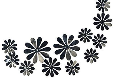 Hosaire 12 Pieces 3D PVC Light Flowers Stickrs Fashion Design DIY Wall Decoration House Decoration Babyroom Decoration