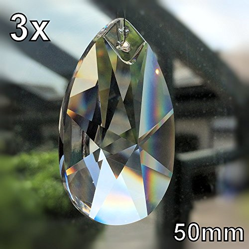 Cristal Wachtel 50mm 3pieza Estrella Patrón gota colgante arco ir