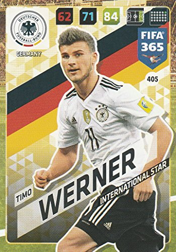 Panini Adrenalyn XL FIFA 365 2018 International Star Timo Werner Germany # 405