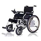 GLYIG Folding Electric Wheelchair Lightweight, Portable Lightweight wheelchairs outdoor, 24V 12A Lithium Battery Automatic Wheelchairs, Safe And Easy to Operate