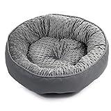BoutiqueZOO - Elegant Hundebett/Größe 2: 49 x 40 x 13 cm/Grau /Hundebett für Kleine/mittlere/große Hunde | Hundesofa, Hundekissen | XS, S, M, L, XL, XXL, XXXL