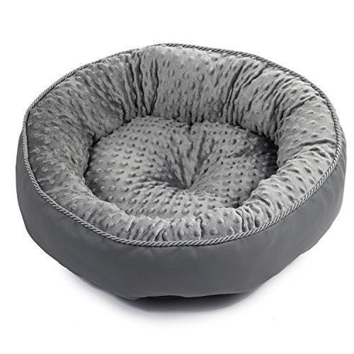 BoutiqueZOO - Elegant Hundebett/Größe 3: 55 x 46 x 15 cm/Grau/Hundebett für kleine/mittlere/große Hunde | Hundesofa, Hundekissen | XS, S, M, L, XL, XXL, XXXL