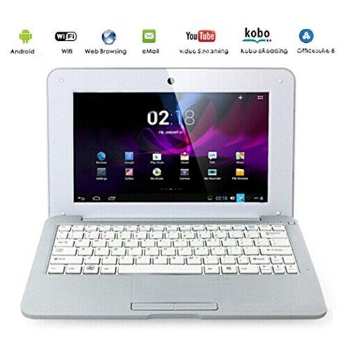 "G-Anica Ordenador portátil de 10.1""(WIFI, 1.5GHz 512 MB de RAM, 4 GB de disco duro) Android 4.4.2 Netbook color Plata"