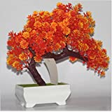 Nuevo producto 5 Colorful Duck Artificial en maceta plantas Bonsai falsa Flor Planta Pino árboles para boda decoración para el hogar, otros, Naranja, Type:Decorative flowers and wreaths, Silk flower