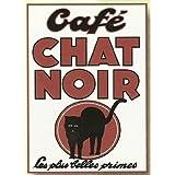 FRANCIA VINTAGE PLACA METAL 20x15cm PUBLICIDAD ANTIGUA CAFE CHAT NOIR