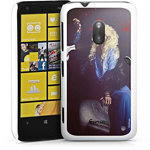 Nokia Lumia 620 Hülle Schutz Hard Case Cover Frau Föhn Kamm