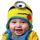 """Thenice Mütze """"Minion"""", Strick, Warm, Winter, für Babys, Mädchen/Jungen Gr. Einheitsgröße, blau"""