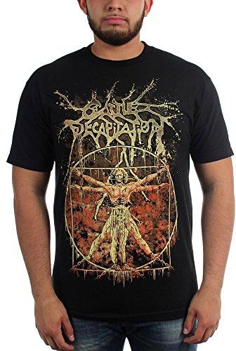 Cattle Decapitation-Vitruvian-Maglietta da uomo Nero  nero