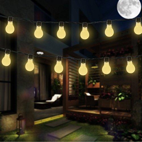 String Licht,DINOWIN Wasserdicht 11.5ft 10LED Globe Birnen hängendes Innen- / im Freienschnur-Licht,Perfekt für Patio, Cafe, Garten, Hochzeit, Party Dekoration (Warmweiß) ()