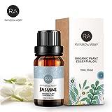 Aceite esencial de jazmín Aromatherapy Now Aceites esenciales orgánicos puros fijados para difusor - 10ml