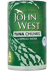 John West Tuna Chunks In Spring Water, 4 x 145 g