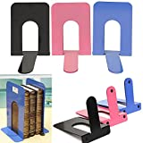 2Pcs L-Shaped Metal Bookend Anti-skid Shelf Book Holder - Best Reviews Guide
