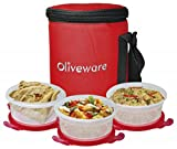 Oliveware Plastic Designo Lunch Box, 1 B...