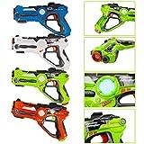 deAO Pistolas Láser con Infrarrojos Conjunto de 4 Armas de Juguete...