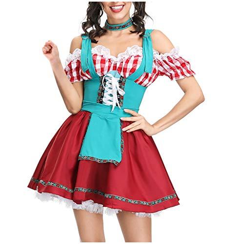 Jockey Mädchen Kostüm - SomeTeam Damen Kleid Erotische Unterwäsche Damen Bier Festival Kleid Sexy Dessous Kleid Bier Festival Cosplay Kostüme Oktoberfest Dienstmädchen Kostüm Kostüm