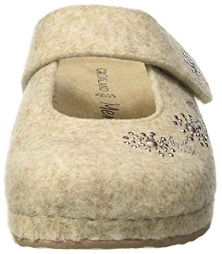 GRÜNLAND Ci2189, Pantofole Aperte sulla Caviglia Donna Avorio (Panna)