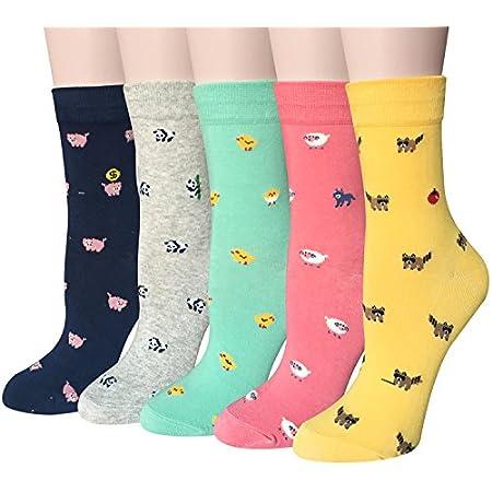 Ambielly calcetines de algod/ón calcetines t/érmicos Adulto Unisex Calcetines 5 puntos Perros