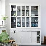 bmg-moebel.de WOOOD Buffetschrank Weiß mit 6 Türen und 4 Schubladen Lagos 373400-GOW