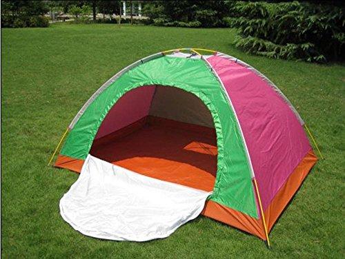YHKQS-KQS Outdoor Camping Folding Tent Vacances d'été Imperméable pliable Single Skin Backpacking Tents / Beach Tent Convient pour 2-3 personnes 200 * 150 * 110 cm